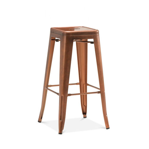 Our Dreux Stackable Vintage Copper Steel Barstool - Set of 4 is on sale now.