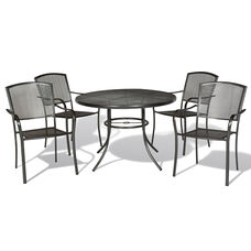 Savannah Outdoor Steel Mesh Dining Table Set