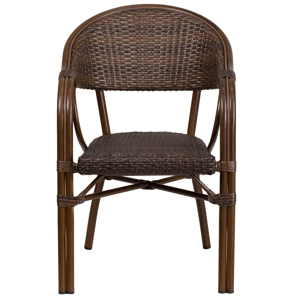 Rattan Bamboo Aluminum Chair Sda Ad642003r 1 Gg Stackchairs4less Com