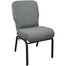 Advantage Signature Elite Charcoal Gray Church Chair - 20 in. Wide