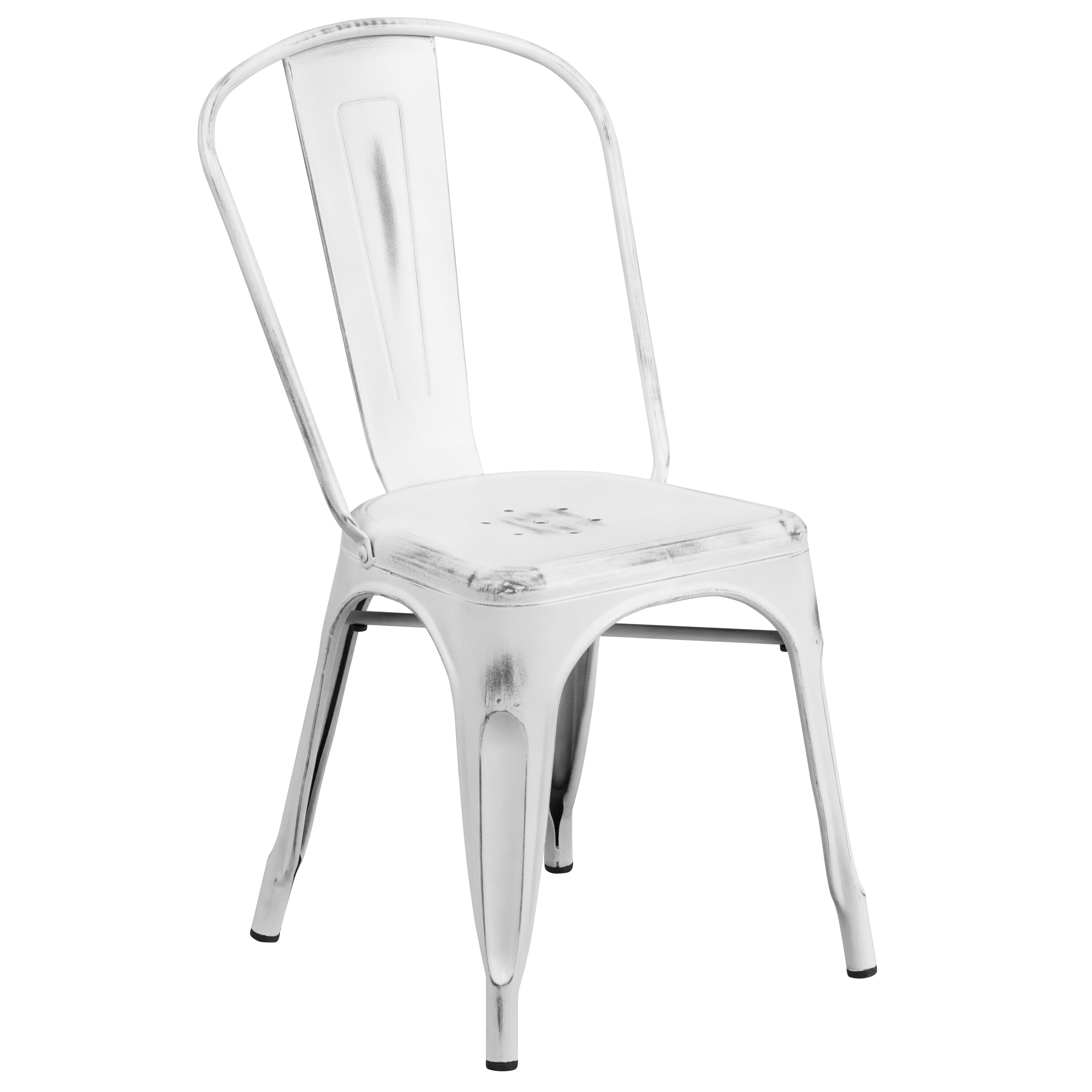 Distressed white metal chair et 3534 wh gg stackchairs4less com