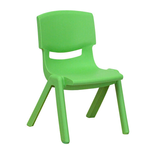 Our Green Plastic Stackable School Chair with 10.5