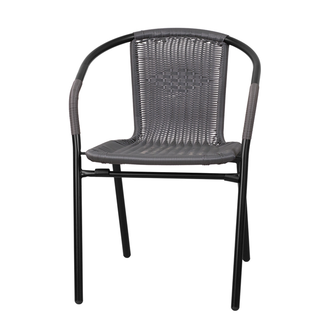 gray rattan stack chair tlh 037 gy gg. Black Bedroom Furniture Sets. Home Design Ideas