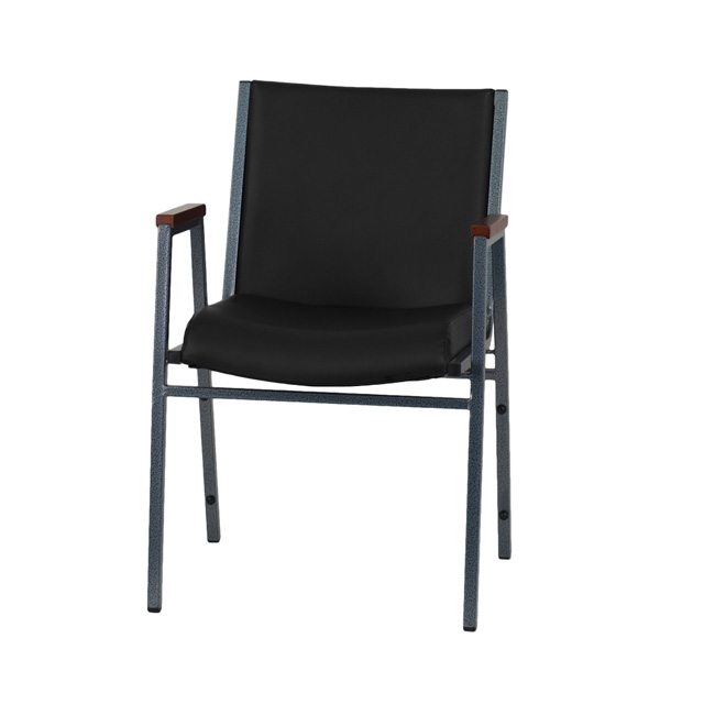black vinyl stack armchair xu 60154 bk vyl gg. Black Bedroom Furniture Sets. Home Design Ideas